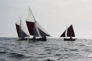 Bateaux Gazelle des sables en mer